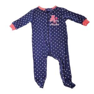 JOE FRESH Baby Footie Zip Up Blue Size 3-6M